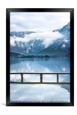 Alps mountains reflected in water, Framed Print