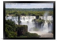 The waterfalls of Iguazu Falls, Framed Print