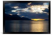 Sunrise over Ushuaia, Argentina, Framed Print