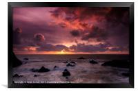 Hartland Quay Sunset, Framed Print