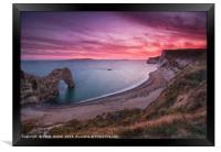 Durdle Dor Sunset, Framed Print