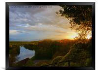 The River Thames, near Marlow, Buckinghamshire, Framed Print