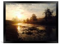 Sunrise on the River Chess, Framed Print