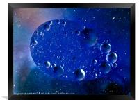 Worlds within worlds. Bubbles within bubbles.  Blu, Framed Print