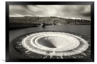Overspill at Ladybower reservoir , Framed Print