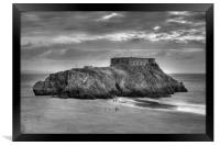 St Catherine's Island, Tenby, Pembrokeshire, South, Framed Print