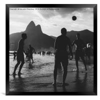Keep Uppy in Ipanema, Rio de Janeiro, Brazil, Framed Print