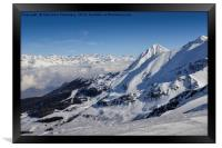 Alps at Winter, Framed Print