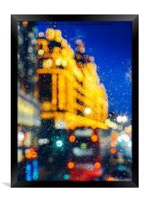 Melancholic London Lights , Framed Print