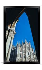Milan's Duomo Cathedral, Framed Print