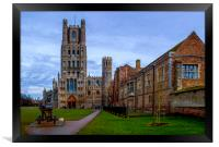 Ely Cathedral on the Green, Framed Print