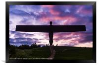 Angel Of The North Sculpture, Framed Print