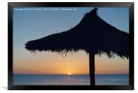 Island Sunset, Framed Print