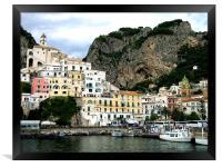 Amalfi in Italy, Framed Print