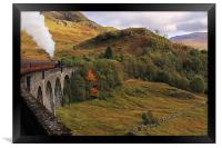 Steam train on Glenfinnan Viaduct Scotland, Framed Print