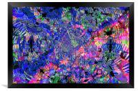 Abstract kaleidoscope, Framed Print