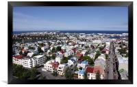 Reykjavík from the Hallgrímskirkja observation tow, Framed Print