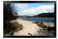White sands of Morar near Arisaig. West Highlands , Framed Print