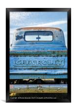 Chevy patina, Framed Print