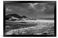 Stormy Mumbles Head, Framed Print