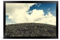 Mountain and sky, Framed Print