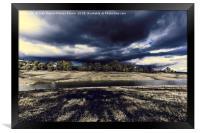 Threat storm, Framed Print