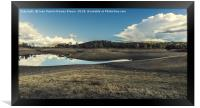 Reflections on the lake, Framed Print