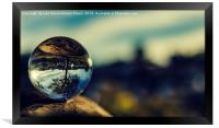 Reflection in crystal ball, Framed Print