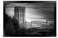 Candle Tower Leeds, Framed Print
