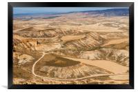 Desert landscape, Framed Print