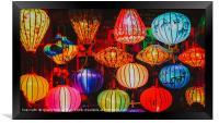 Colorful Traditional Vietnam Lanterns, Framed Print