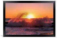 Sunset Waves, Framed Print