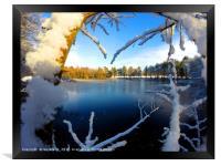 Frozen Lake at winter time, Framed Print