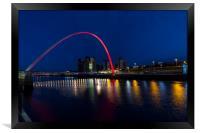 Gateshead & Newcastle Millennium Bridge, Framed Print