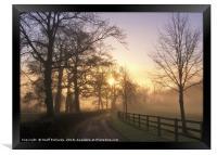 January Sunrise In Hampshire, Framed Print