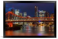 Story Bridge Brisbane, Framed Print