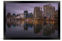 Darling Harbour at dusk, Framed Print