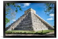 Chichen Itza Pyramid, Framed Print