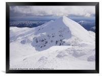 Stob Binnein in Winter, Framed Print