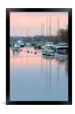 River Frome sunrise., Framed Print