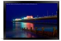 Worthing Pier At Night, Framed Print