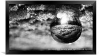 Snow in A Glass Ball      , Framed Print