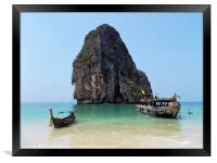 Thailand Beach, Framed Print