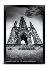 The Scott Monument, Framed Print