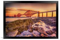 Sunrise over the Forth Bridge, Framed Print