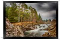Easan Dubha Waterfall, Glen Orchy, Framed Print