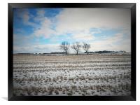 Landscape photo taken on field in ormskirk Lanchas, Framed Print