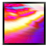 Fun modern colorful wavy abstract background , Framed Print