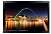 Gateshead Millennium Bridge No.2, Framed Print