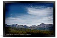 The Goatfell Mountain range, Isle of Arran., Framed Print